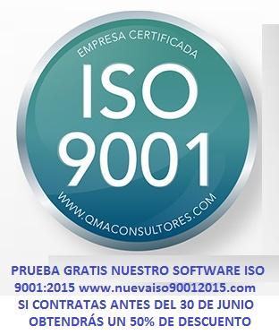 Sello ISO 9001 QMA + Software